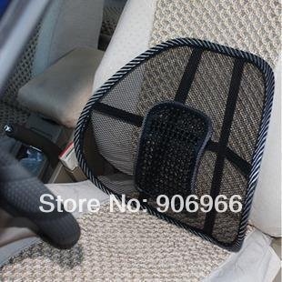 Car Seat Massage Chair Back Lumbar Support Mesh Ventilate Cushion Pad 1Pcs/Lot Free shipping Best selling(China (Mainland))
