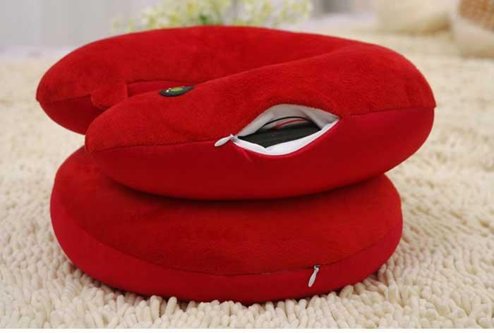 Best-seller! Os materiais nano elétrica travesseiro Cervical Travesseiro pescoço massageador produto de cuidados de saúde 1pcs/lot Frete grátis(China (Mainland))