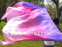 Belly Dance Fan Veil /Belly Dance silk veil 3color /belly dance silk  Veil,free shipping Wholesale 4pcs/lot