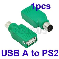 Holiday Sale Keyboard Mouse PS2 PS/2 to USB Adapter Converter Free Shipping 1174(China (Mainland))