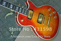 best supreme Sunburst ebony fingerboard frets binding electric guitar HOT SALE