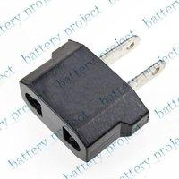 AC or Euro EU to US USA  AC Power Plug Adapter Travel Converter Plug 1000pcs/lot black color