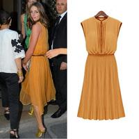 2012 summer pleated fashion plus size bohemia chiffon fashion one-piece dress 1116