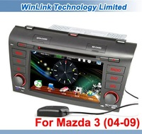 2 Din CAR DVD PLAYER FOR MAZDA 3 2004-2009 WITH GPS CANBUS + 2012 New Free Map