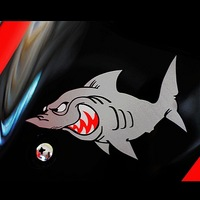 Minorders $19.99 Shark shark motorcycle reflective stickers car stickers, a pair, CPAM