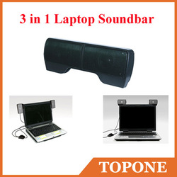 USB Portable Mini Stereo Speaker for3in1 Laptop Soundbar Speaker system for Notebook/Loud Speaker with Retail Box,Free Shiping(China (Mainland))