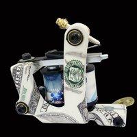 Wholesale - New Cast Iron Tattoo Machine Gun shader liner 10 Wraps Coils P1060358