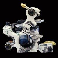 Wholesale - New Cast Iron Tattoo Machine Gun shader liner 10 Wraps Coils P1060374