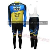 2012 Saxobank tour de france  Thermal Long Sleeves Cycling Jerseys and BIB Pants
