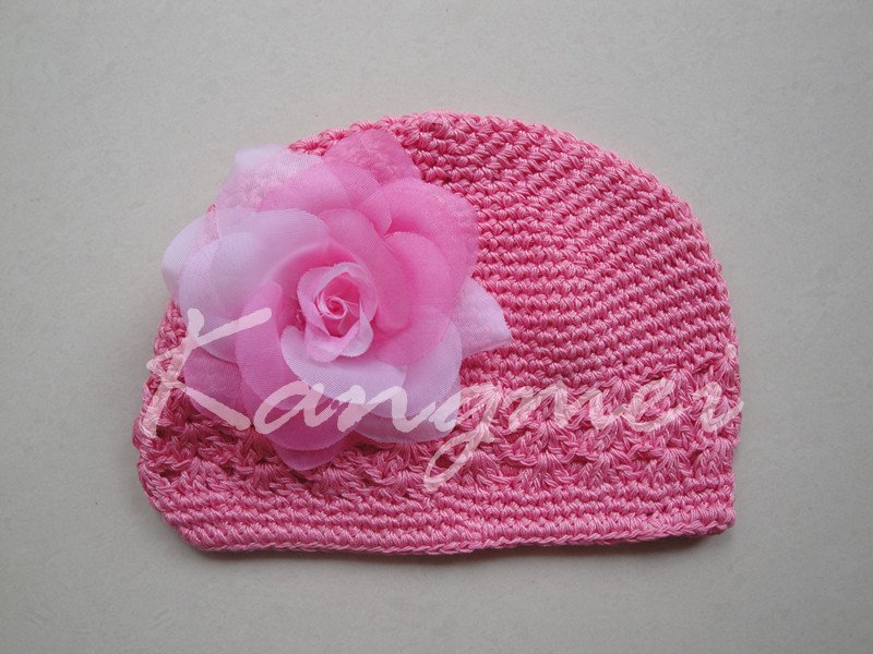 Hot Sale Item!!Fashion Handmade Crochet Baby Hat//Crochet Kufi Hat(China (Mainland))