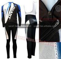 2012 Giant Thermal Long Sleeves Cycling Jerseys and BIB Pants Custom