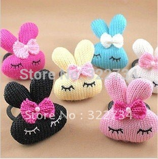 (60pieces/lot)  knitting bow rabbit kids headband lovely hare jvwelry accessories cute girl baby