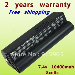 New Black 8CELL 7.4V 10400MAH Laptop Battery For Asus A22-700 A22-P701 Eee PC 701C 801 900 2G 4G 8G 12G 20G +Free Shipping(China (Mainland))