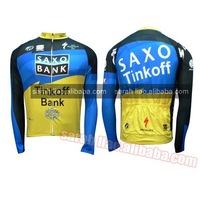 2012 Saxobank tour de france Only Long CYCLING JERSEY SIZE S~XXXL custom