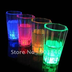 led flashing glass light up cups water activated function multicolor led light ice inside(China (Mainland))