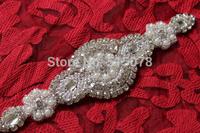 Wedding Sashes with Crystal Rhinestone Applique