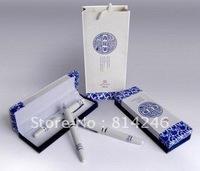 Chinese folk art blue and white porcelain pen