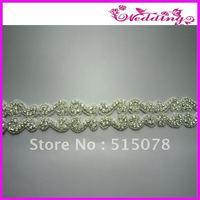 Sparkling rhinestone bridal sash/belt applique trimmings,Free Shipping