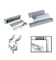 Free shipping , lock kit, 180kg (350lbs) magnetic lock + ZL bracket ,use for wooden door ,fire door ,180kg(350lbs)sn:kit-901s