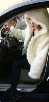 Free Shipping 2012 Korean High Quality Fleece Faux Fur Ladies' Coat Hooded short design fur overcoat(Black+Beige+White)121009#12