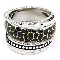 free shipping crystal flower Fashion star multi-layer leopard print bangle vintage multi-layer  vintage bracelet