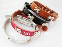 Free shipping!20pcs lot Super cute dog collar,leather dog collars,pet collars,dog supplies, pet product