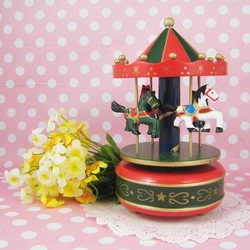 free shipping Christmas birthday present for girlfriend creative gift carousel music box sd075(China (Mainland))