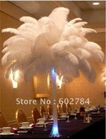 EMS Free Shipping 50pcs/lot 16-18 inches 40-45cm white ostrich drab feather ostrich plumes ostrich plumage