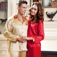 Lounge mulberry silk lovers long-sleeve silk cardigan sleep set qd31931