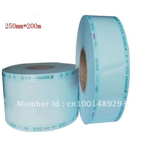 quality warranted CE GD-SP 4rolls 250mm*200m/roll free shipping plat autoclave sterilized packing pouch bags widely used(China (Mainland))