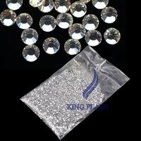 New 20000pcs Clear Glitter 1.5mm Hot Fix Rhinestone, Crystal Rhinestone Nail Art Decoration accessories  5915