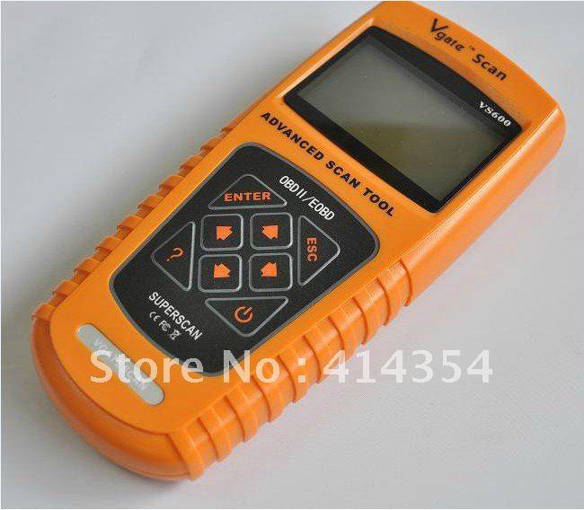obd scanner car diagnostic tool VS600 Vgate Scan OBD2 Live PCM Data Code Reader Scanner free shipping by DHL(China (Mainland))