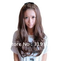 Free shipping-new arrive romantic amazing long curl wigs synthetic for ladies Christmas wigs  3/4 wigs high quality