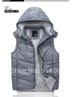 South korea Puffer Vest men's Hoodie jacket Coat / free shipping