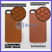 50pcs/lot waffle off the wall silicon sole case For iphone 4 4S with retail package DHL Free Shipping