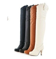 Knee length boots waterproof high with women's boots