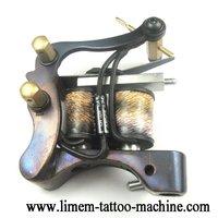 Free shipping/Retail//good quality tattoo machine/ Wholesale - Handmade Damascus Tattoo Machine Gun supply LINER Wraps Coils