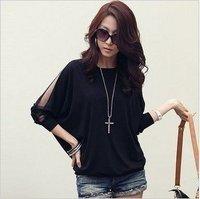 2012 New women's long Sleeve ring printed cotton T-Shirts/ladies' fashion primer shirt/ladies' slim t-shirt