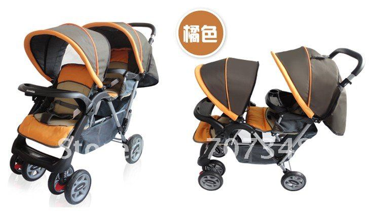 Hot-selling twin baby car twin stroller double stroller twins baby Prams,High Quality and Limited(China (Mainland))