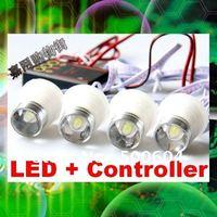 10W High power Car Led DRL Daytime running Strobe Flash light Eagle eye DIY Lamp with Flash controller box Amber/Yellow/Blue/Red