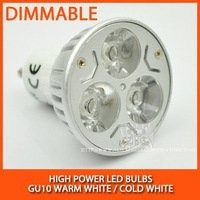 High power led spotlight bulb 3W GU10 Dimmable Warm white/cold white AC85-265V Free Shipping