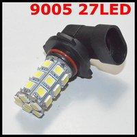 Free shipping 2pcs/lot 9005(HB1) 27 SMD 5050 Car LED FOG LAMP Light High Beam Light Car Auto / Tail / Head light