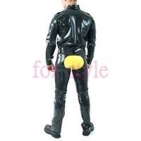 latex jeans for man