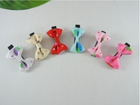 Free shipping  100/Lot 4cm Baby Girl kid's hair clips Ribbon bows handmade hair accessories Boutique alligator clips