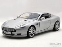Motormax 1:18 Aston Martin DB9 alloy sports car model silver
