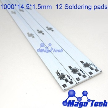 1000*14.5*1.5mm aluminum plate PCB led circuit board  Circuit Aluminum Board for 12W 24W  LED Linear light