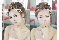 Free Shipping! Silver bride hair accessory marriage accessories bridal crown and hair flower HG009