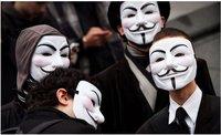 Free Shipping V Vendetta Team Mask Halloween Masks Adult Size 40pcs