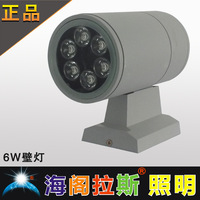 Wall lamp led lighting double slider wall lamp high power lighting lamp outdoor lamp wall lamp 6w