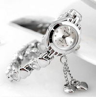 Free shipping,Fashion bracelet watch women's table exquisite rhinestone ol white collar all-match lady fashion quartz